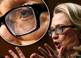 Hillary Clinton with Eyeglasses